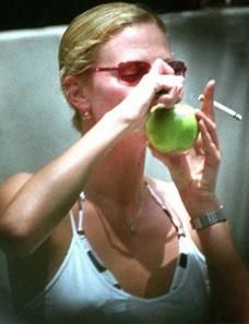Charlize Theron smoking weed. Celebrities smoking Marijuana.