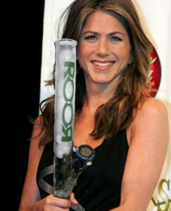Jennifer Aniston smoking pot from a bong. Celebrities smoking Marijuana.