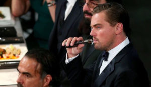 Leonardo DiCaprio Vaping CBD oil at SAG Awards. Cannabis Marijuana