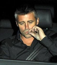 Friends TV show star, Matt LeBlanc, smoking pot. Celebrities smoking weed.