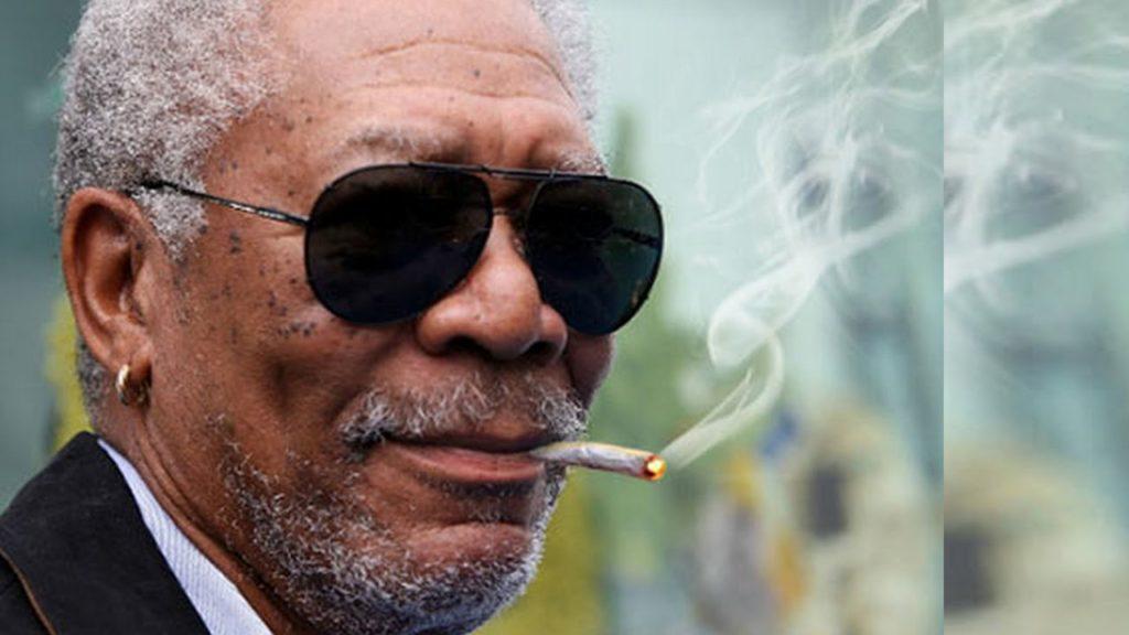 Morgan Freeman smoking weed. Celebrities smoking Marijuana.