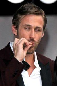 Ryan Gosling smoking weed. Celebrities smoking Marijuana.