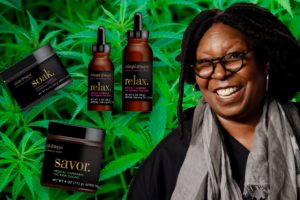 Buy Whoopie Goldberg, Whoopi and Maya, marijuana tincture, salve and bath salts here