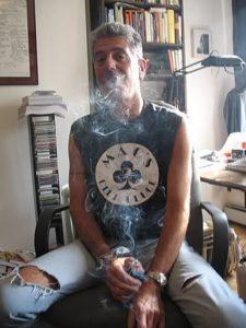 Celebrity Chef, Anthony Bourdain, smoking weed. Celebrities smoking Marijuana.