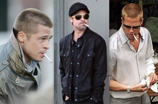 Brad Pitt smoking weed. Celebrities smoking Marijuana.