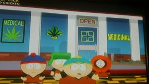 South Park TV show marijuana dispensary episode.